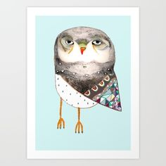 Buy Owl by Ashley Percival Art Print by Ashley Percival illustrator. Worldwide shipping available at Society6.com. Just one of millions of high quality products available.