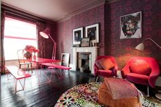 HOT PINK AT THE LONDON HOME OF NIKKI TIBBLES
