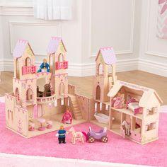 KidKraft Princess Castle Dollhouse with Furniture Princess Doll House, Princess Castle, Pink Princess, Castle Dollhouse, Wooden Dollhouse, Wooden Dolls, Toy Castle, Dollhouse Toys, Pallets