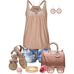 Casual Outfit - Love it! Simple Outfits, Short Outfits, New Outfits, Pretty Outfits, Summer Outfits, Casual Outfits, Cute Outfits, Fashion Outfits, Fashion Trends