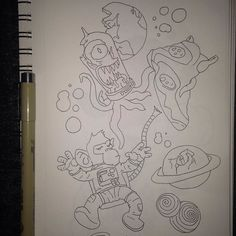 provocative-planet-pics-please.tumblr.com Space the final frontier #art #artwork #soleartis #drawing #sapce #outterspace #planets #astronaut #aliens #pennys by damien_s_h https://www.instagram.com/p/_ms_Z1DneV/
