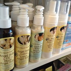 @angellinas_toy_boutique These Earth Mama Angel Baby products are great! We have oil to help prevent stretch marks and ease itching. Oil for your baby. Baby lotion that's gentle on baby's skin. Mama body butter to help your skin through your journey. Shampoo thats gentle enough for your new precious baby. Body wash that helps ease morning sickness. We also have a variety of teas.  on Instagram