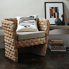 chunky seagrass chair