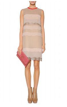SCHUMACHER - Scalloped Shift Dress - Designer Dress hire