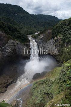The waterfall San Rafael in Ecuador