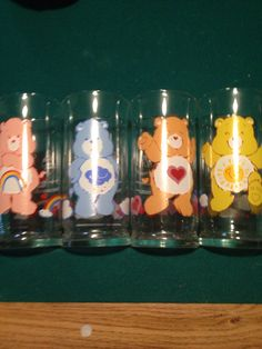 Vintage Cartoon, Retro Vintage, Cartoon Glasses, 1980s Toys, Pizza Hut, Care Bears, Vintage Glassware, Glass Collection, Vintage Pictures