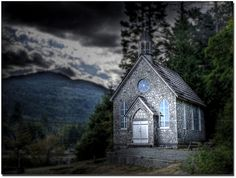 A small church in British Columbia, Canada.  by larz_73, via Flickr