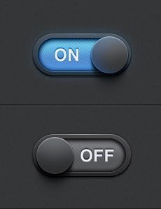 Dribbble – On/Off Settings Switch by James Cipriano
