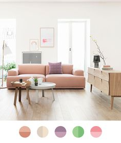 I want to live here… Because this living room has the perfect floor and cool scandinavian furniture in pastel colors. Image: Finnish Design Shop