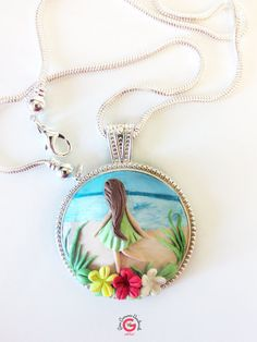 Polymer Clay Pendant Applique Polymer Clay by GinaCarrascoHandmade, $43.17