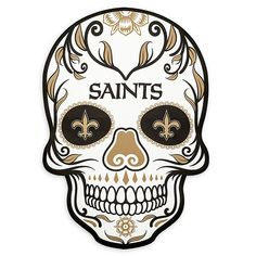 Embellish your outdoor space in strking fashion with the NFL Large Skull Outdoor Decal. Perfect for displaying your pro football team pride, this attention-grabbing skull graphic decal showcases the colors and logos of your favorite gridiron team. New Orleans Saints Logo, New Orleans Saints Football, Nfl Saints, Saints Gear, Saints Memes, New Orleans Tattoo, Saint Tattoo, Pro Football Teams, Football Art