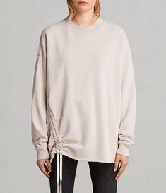 All Saints Able Sweater Womens Quartz Pink Oversized Jumper UK M Sweatshirt Dress, Sweater Jacket, Allsaints Looks, Markova, Lounge Wear, Sweaters For Women, Sweatshirts, Long Sleeve, Casual