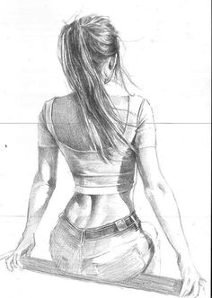 Realistic Pencil Drawings, Girly Drawings, Pencil Art Drawings, Cool Art Drawings, Girl Drawing Sketches, Anatomy Sketches, Anatomy Art, Life Drawing, Sexy Painting