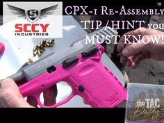 SCCY 9mm RE-ASSEMBLY TIP/HINT that YOU NEED TO KOW!