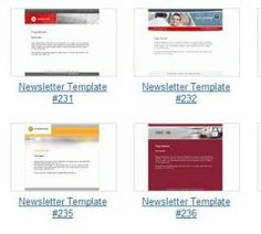 Free Newsletter Templates for Print and Web: Interspire Newsletter and Email Templates