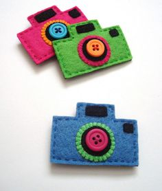 Felt Camera Pins | Flickr
