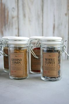 DIY Spice Jar Labels with Free Printable |
