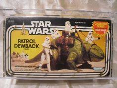 Vintage 1983 Star Wars ROTJ Patrol Dewback SEALED MISB AFA 70 RARE!!