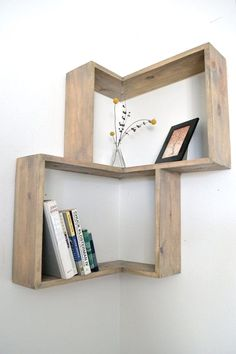 33 Super Ideas For Diy Bookshelf Wall Corner - Diy Möbel Diy Wand, Diy Home Decor On A Budget, Cheap Home Decor, Diy Bookshelf Wall, Bookshelf Ideas, Bookshelf Styling, Shelving Ideas, Wall Shelving, Bookshelf Design