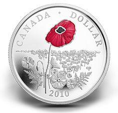 Dollar épreuve numismatique en argent édition limitée – Coquelicot (2010)