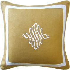 SLUBBY LINEN DECORATIVE PILLOW