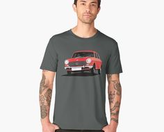 Red classic car from England, the Morris Marina sedan cornering to your heart. Cool gift idea for old vintage car lovers. Pick Up, Toyota Hilux 4x4, Gti Car, Morris Marina, Offroad And Motocross, Fiat Uno, Old Vintage Cars, Auto Retro, Best Muscle Cars