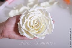 Мастер-класс Fondant Flowers, Paper Flowers, Diy And Crafts, Paper Crafts, 3d Paper, Cold Porcelain, Handmade Flowers, Master Class, Diy Projects To Try