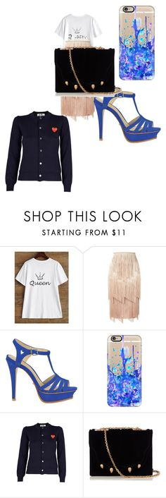"""""""Untitled #663"""" by bellagioia ❤ liked on Polyvore featuring Tom Ford, Schutz, Casetify, Play Comme des Garçons and Marco de Vincenzo"""