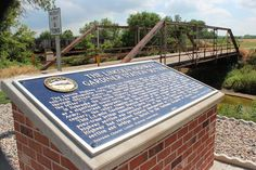Historic Gardiner bridge - when locals found this bridge and corresponding section of original Lincoln Highway was endangered, they rallied and saved it.