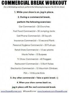 Commercial Break Fat Loss Workout