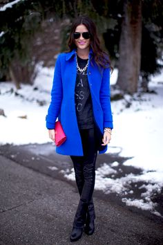 Brrrr Baby it's Cold Outside – 5 Coat Trends // Peacoat on Rachel Parcel from Pink Peonies
