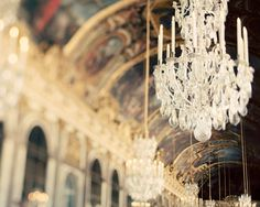 Chandelier photograph, Paris - The Secret History - Versailles, Hall of Mirrors, France Paris Photography, Fine Art Photography, Beauty Photography, Wedding Photography, Chinoiserie, Versailles Paris, Gold Wall Decor, Paris Bedroom, Hall Of Mirrors