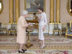 Honour: The Queen herself received the Oscar-winning actress in a private audience at Buckingham Palace today
