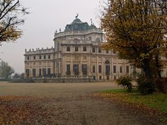 """Stupinigi palace inPiemonte, Italy  Stupinigi, one of the Residences of the Royal House of Savoy, is the palazzina di caccia (""""hunting lodge""""), 10km southwest of the heart of Turin, built by Filippo Juvarra beginning in 1729 for Vittorio Amedeo II, King of Sardinia"""