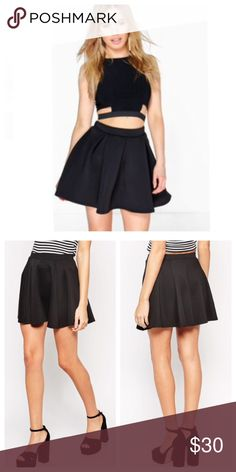 "🎀HP 7-20🎀 ASOS Skater Skirt in Ponte ASOS Skater Skirt in Ponte   Size: S (UK 8 / US 4) Color: Black Description: Skirt by ASOS Collection. Made from an easy-care poly-blend fabric. Fitted high-waisted band. Softly pleated skirt. Skater style skirt. Mini length. Regular fit. Pleat detailing. Purchased: from ASOS.com Material: 74% Polyester, 24% Viscose, 2% Elastane Item measurements: approx. 14.5"" length   ❗️Very minor piling❗️   ✔️Fair offers always considered ✔️No trading at this time…"
