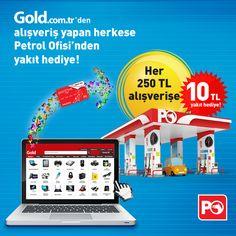 Gold.com.tr'den her 250 TL'lik alışverişinize Petrol Ofisi'nden yakıt hediye!   #goldcomtr #technology #teknoloji #petrolofisi #yakıt #kampanya