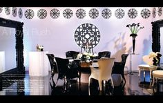 Grace+Ormonde+Wedding+Table+Arrangements | ... tabletop with monochromatic centerpieces surrounded by Pasha chairs