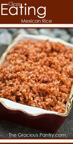 Clean Eating Mexican Rice. I'll add dried chipotle chili powder, oregano, cumin, garlic.