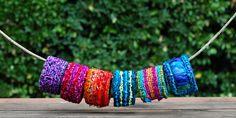 Locker Hooked Bracelets on a Branch - Color Crazy Bangle Bracelet Kits