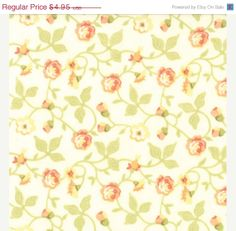 SALE Moda Avalon Daisy Fabric by Fig Tree and by Jambearies, $4.46