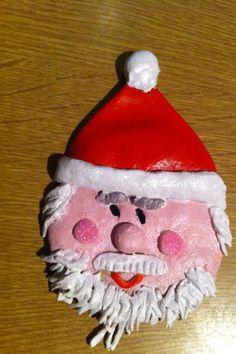 Father Christmas Salt Dough Tree Decoration