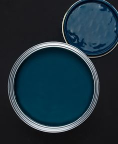 In Deep Water is a dark, inky blue with a beautiful warm green undertone. This midnight blue paint looks fab with teal and hot pink accents. Navy Paint Colors, Paint Colors For Home, House Colors, Paint Colors For Kitchen, Living Room Paint Colors, Peacock Blue Paint, Blue Bedroom Paint, Best Bathroom Paint Colors, Best Bedroom Colors
