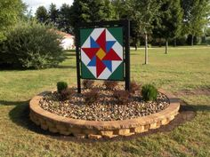 Barn quilt with rocks?