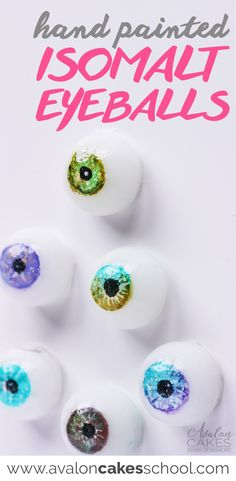 Learn how to make these hand painted isomalt sugar eyes! Perfect special touch for face and bust cakes! Depth and realism with these glass-like eyes. Cake decorating online Avalon Cakes www.avaloncakesschool.com #isomalteyeballs #caketutorial #cakedecorating
