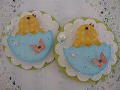 Easter chick Punch Art - bjl