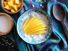 Mango Sticky Rice, Gluten, Breakfast, Food, Fine Dining, Morning Coffee, Essen, Meals, Yemek