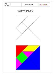 www.okuloncesihersey.net serbest-zaman-etkinlikleri-cocuklar-icin-tangram.html Tangram Puzzles, Math Night, Learning Through Play, Math Worksheets, Cute Crafts, Preschool Activities, Art For Kids, Teaching, Travel