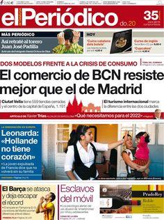Los Titulares y Portadas de Noticias Destacadas Españolas del 20 de Octubre de 2013 del Diario El Periódico ¿Que le pareció esta Portada de este Diario Español?