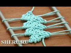 Hairpin Lace Crochet Tutorial 14 Как связать ленту на вилке