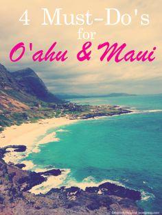 4 Things to do on Oahu and Maui -  great Hawaii Tips
